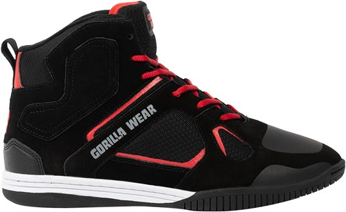 Troy High Tops - Black/Red - EU 39