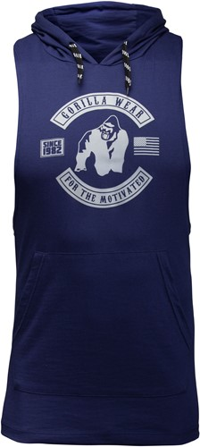 Lawrence Hooded Tank Top - Navy - 4XL