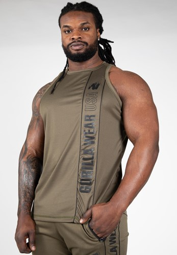 Branson Tank Top - Army Green/Black - S
