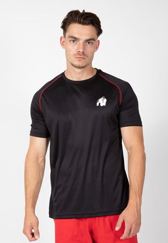 Performance t-shirt - Black/red - S