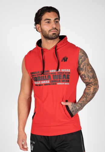 Melbourne S/L Hooded T-shirt - Red - 4XL