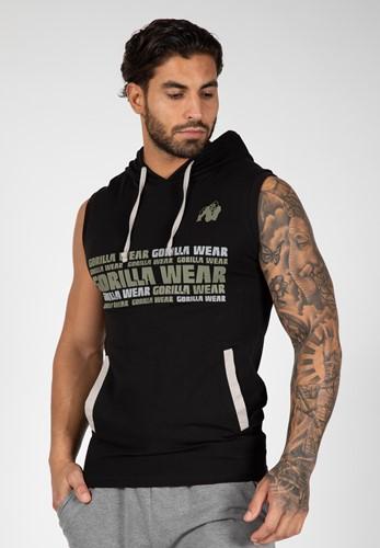 Melbourne S/L Hooded T-shirt - Black - M