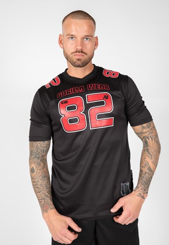 Fresno T-shirt - Black/Red - M