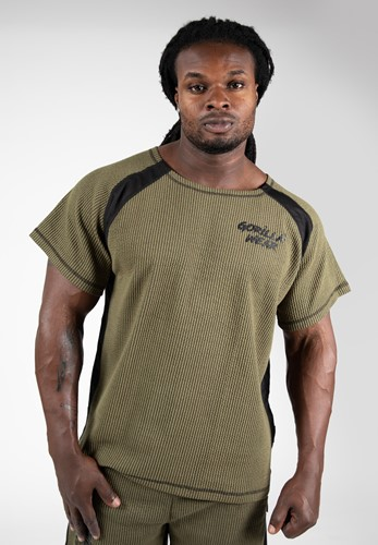 Augustine Old School Workout Top - Army Green - S/M