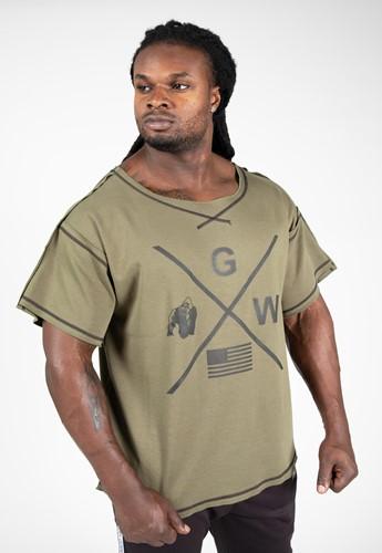 Sheldon Workout Top - Army Green - 2XL/3XL