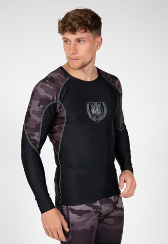 Lander Rashguard Long Sleeve - Black/Gray Camo