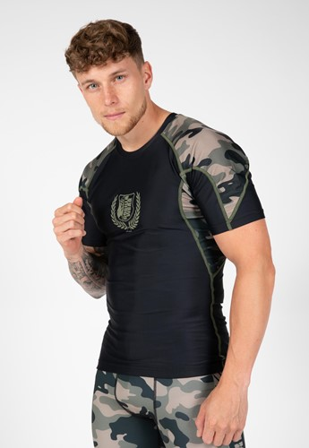 Cypress Rashguard Short Sleeves - Army Green Camo - 4XL