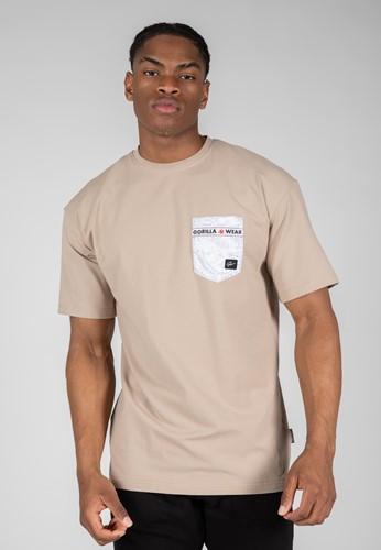 Dover Oversized T-Shirt - Beige - 3XL