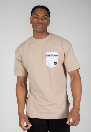 Dover Oversized T-Shirt - Beige - L