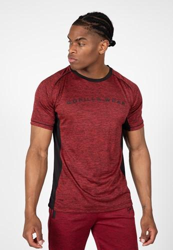 Fremont T-Shirt - Burgundy Red/Black - 2XL