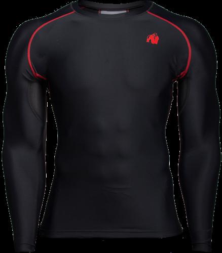 Hayden Compression Long Sleeve - Black/Red