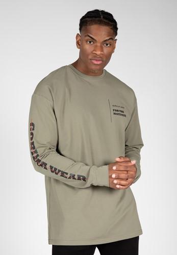 Boise Oversized Long Sleeve - Army Green - S