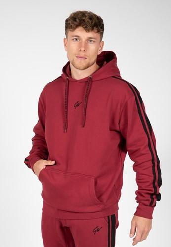 Banks Oversized Hoodie - Burgundy Red/Black - XL