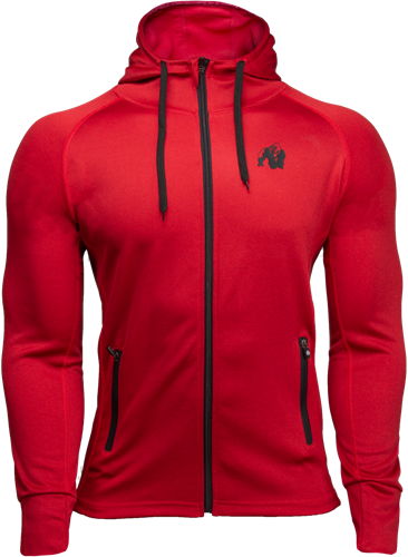 Bridgeport Zipped Hoodie - Red