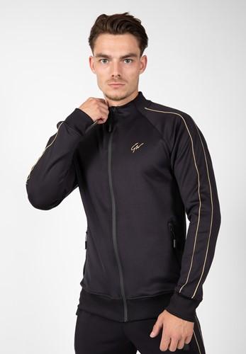 Wenden Track Jacket - Black/Gold - 4XL