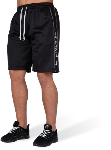 Functional Mesh Shorts - Black/White-S/M