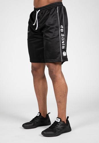 Functional Mesh Shorts - Black/White-2XL/3XL