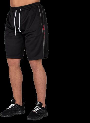 Functional Mesh Shorts - Black/Red-L/XL