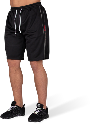 Functional Mesh Shorts - Black/Red