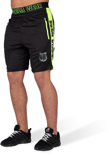 Shelby Shorts - Black/Neon Lime - 5XL