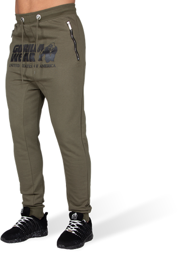 Alabama Drop Crotch Joggers - Army Green - 3XL