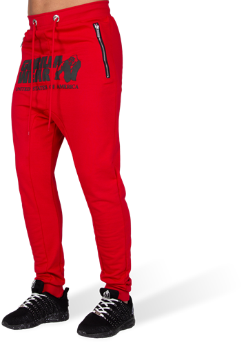 Alabama Drop Crotch Joggers - Red - S