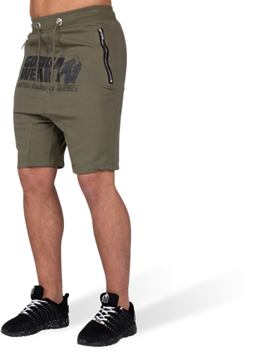 Alabama Drop Crotch Shorts - Army Green - XL