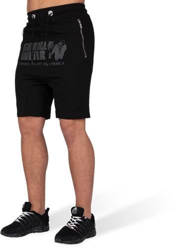 Alabama Drop Crotch Shorts - Black-S