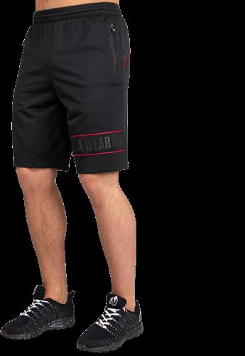 Branson Shorts - Black/Red - 3XL