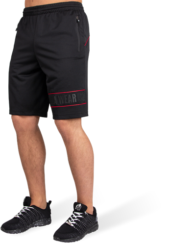 Branson Shorts - Black/Red - 4XL