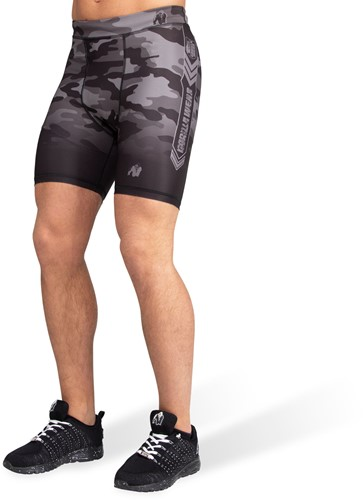 Franklin Shorts - Black/Gray Camo-4XL