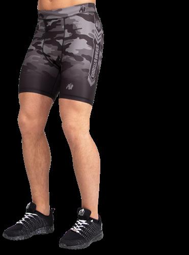 Franklin Shorts - Black/Gray Camo-S