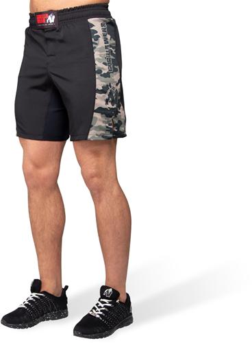 Kensington MMA Fight Shorts - Army Green Camo - L