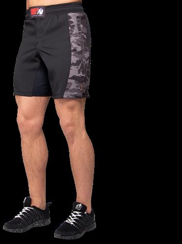 Kensington MMA Fight Shorts - Black/Gray Camo - S