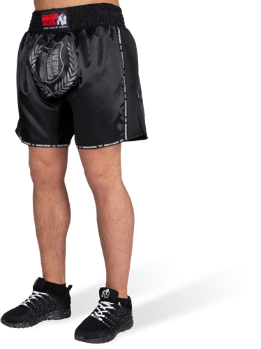 Murdo Muay Thai/Kickboxing Shorts - Black/Gray
