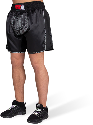 Murdo Muay Thai / Kickboxing Shorts - Black/Gray - XS