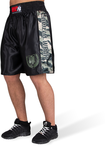 Vaiden Boxing Shorts - Army Green Camo - XS