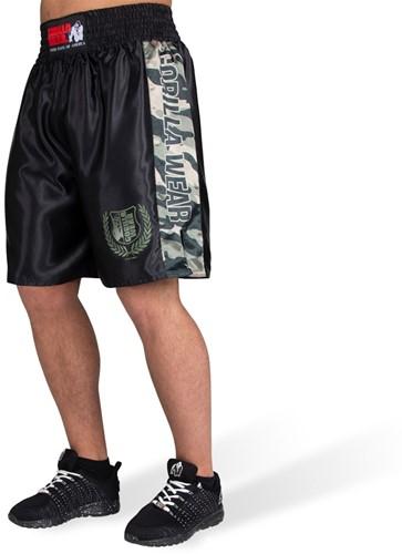 Vaiden Boxing Shorts - Army Green Camo - XS