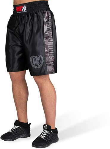 Vaiden Boxing Shorts - Black/Gray Camo - S