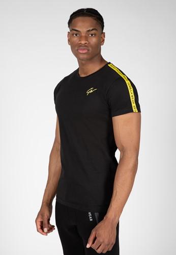 Chester T-shirt - Black/Yellow - S