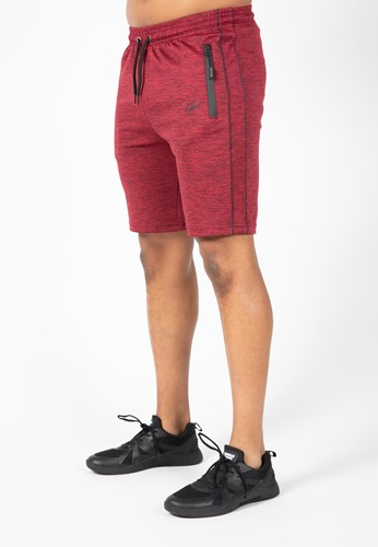Wenden Track Shorts - Burgundy Red - 3XL