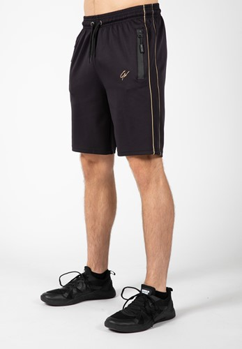 Wenden Track Shorts - Black/Gold - 3XL