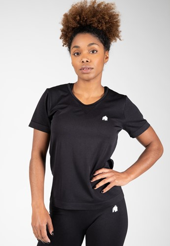 Neiro Seamless T-Shirt - Black - XS/S