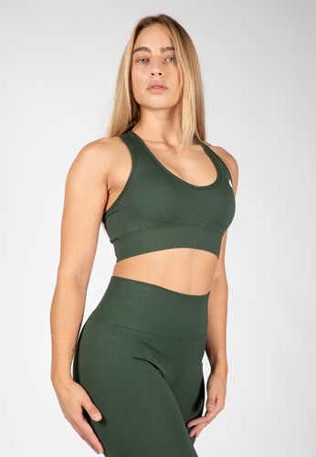 Neiro Seamless Sports Bra - Army Green - S/M