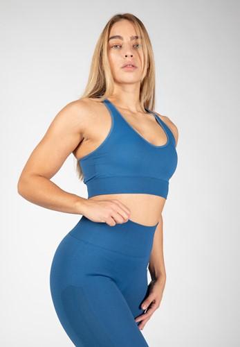 Hilton Seamless Sports Bra - Blue - XS/S