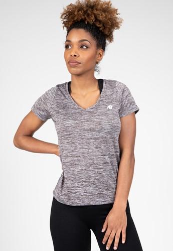 Elmira V-Neck T-Shirt - Gray Melange - S