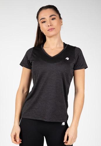 Elmira V-Neck T-Shirt - Black - S