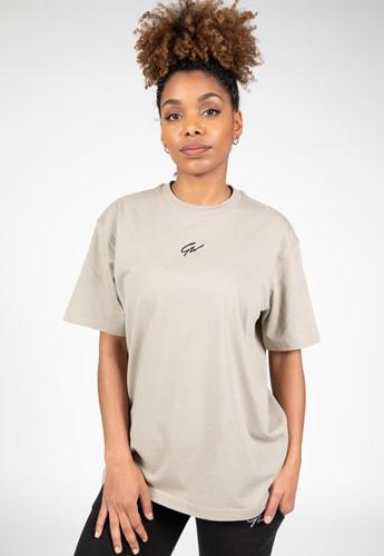 Bixby Oversized T-Shirt - Beige - XS