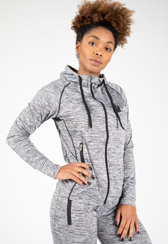 Shawnee Zipped Hoodie - Mixed Gray - S