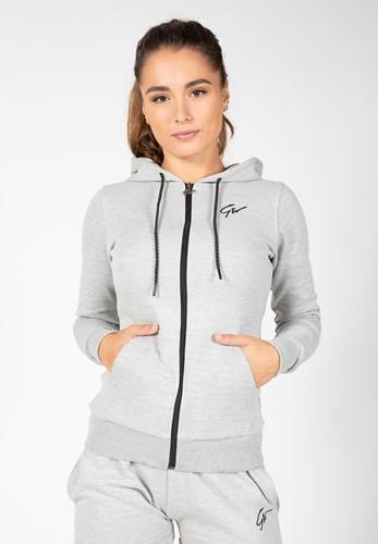 Pixley Zipped Hoodie - Gray - XS